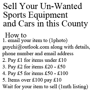 sell your unwanted martial arts gear, sell your car, van or truck