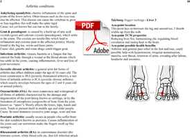 acupressure and arthriric conditions
